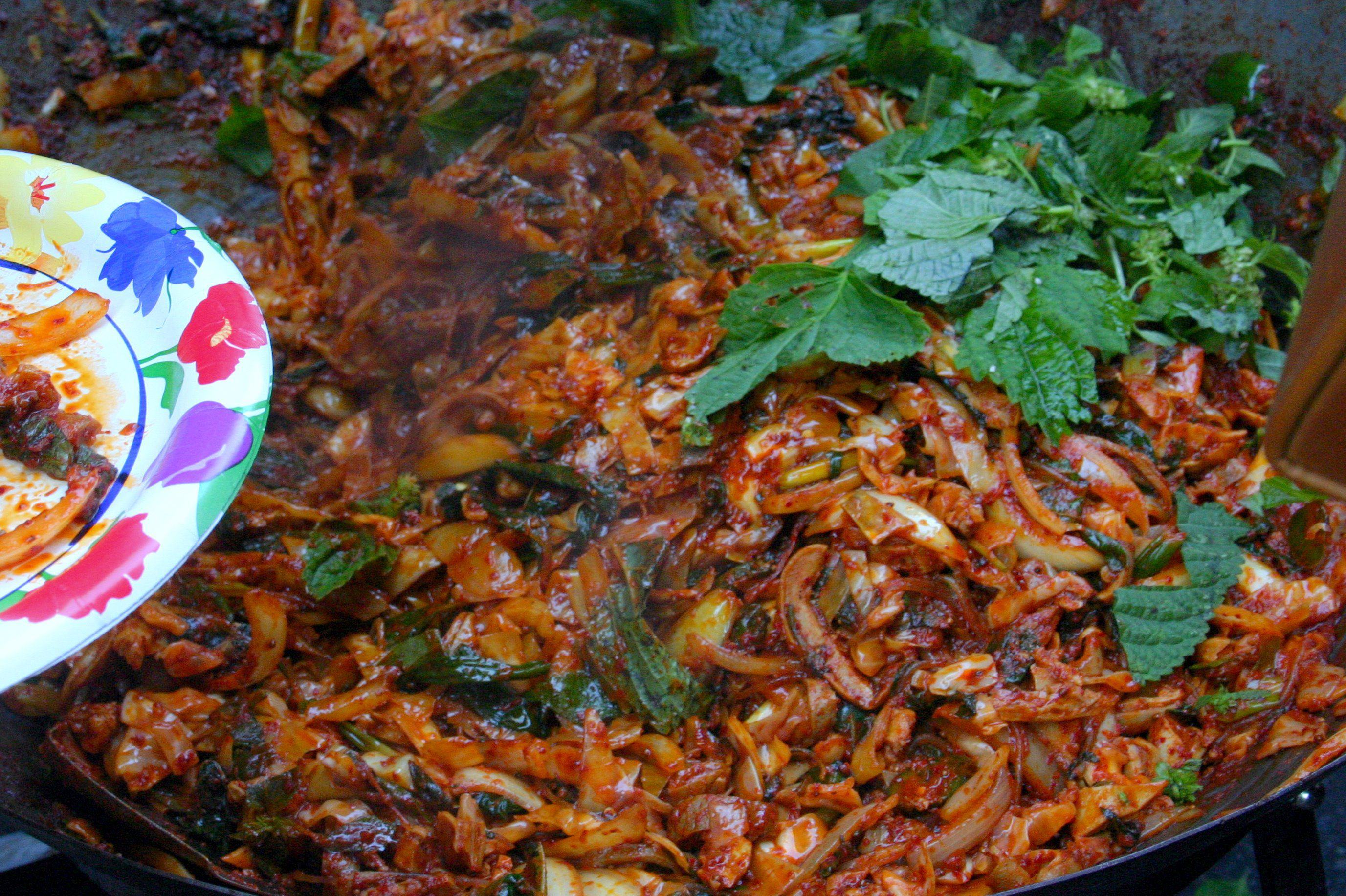 Korean Spicy Stir Fried Squid (Ojinguh Bokum)