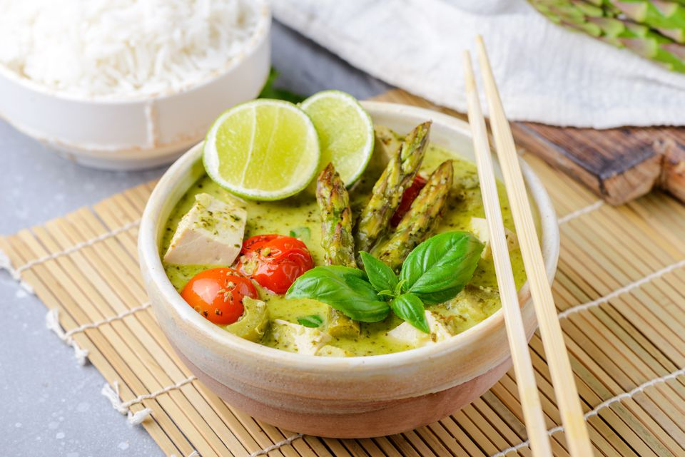 Vegetarian Thai Green Coconut Curry Recipe