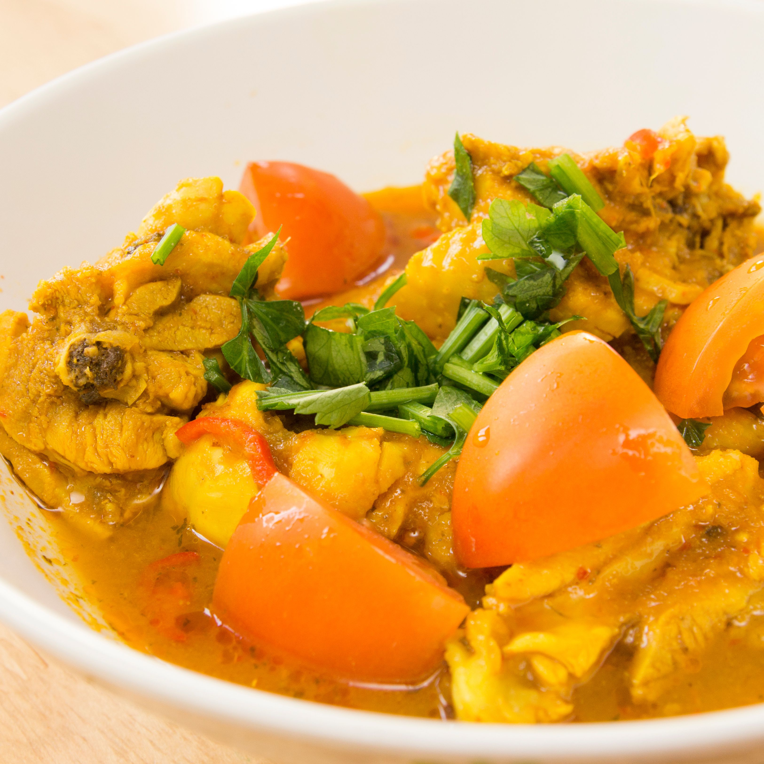 Baked Curried Chicken Breasts in a Coconut Milk Sauce