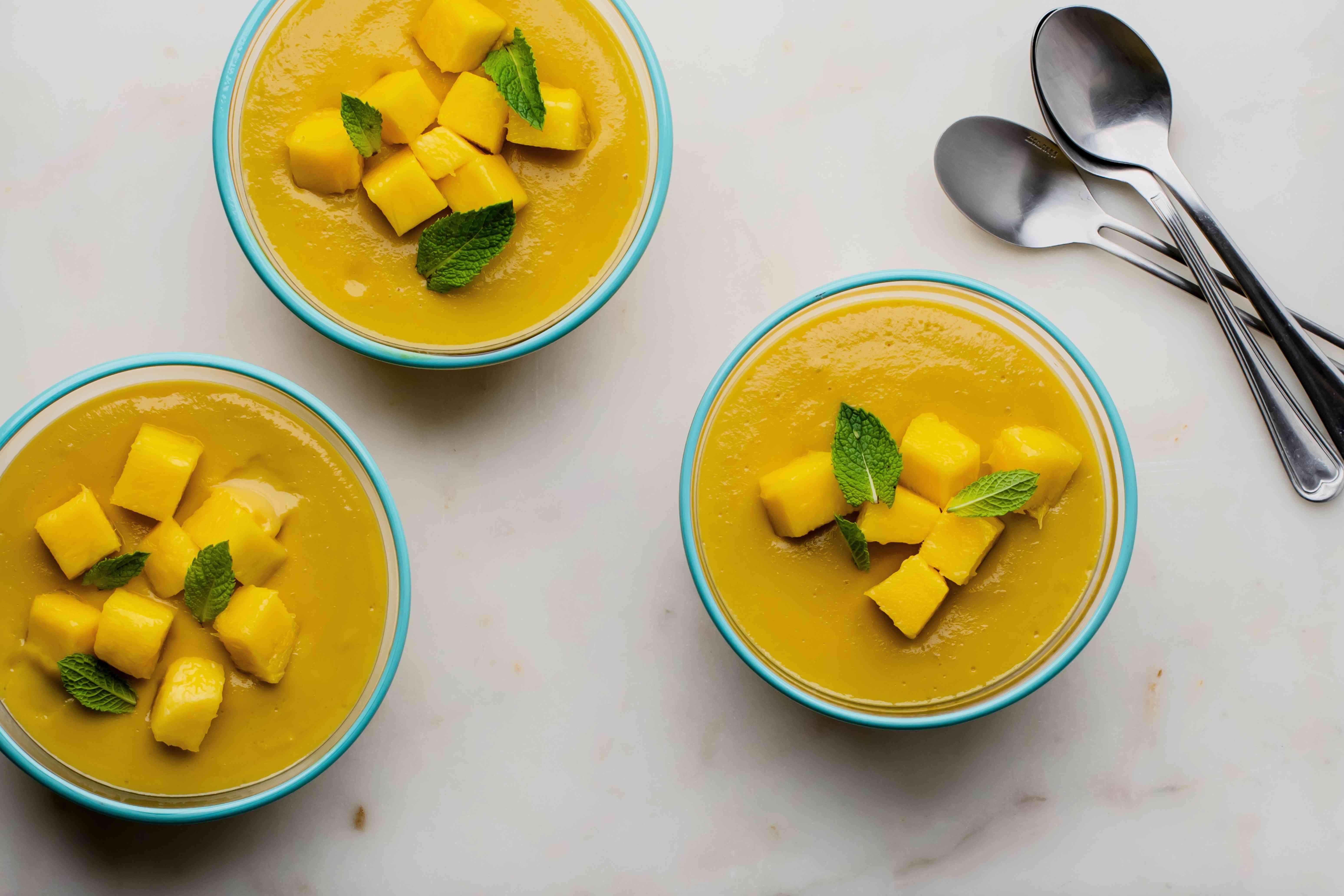 Easy mango custard dessert recipe