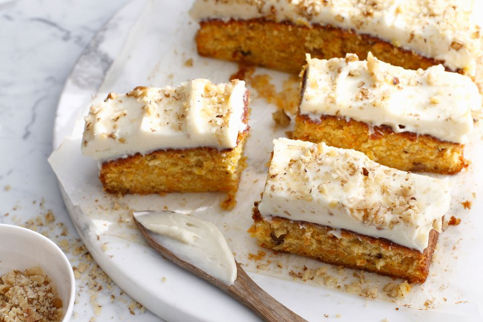 Sliced carrot cake