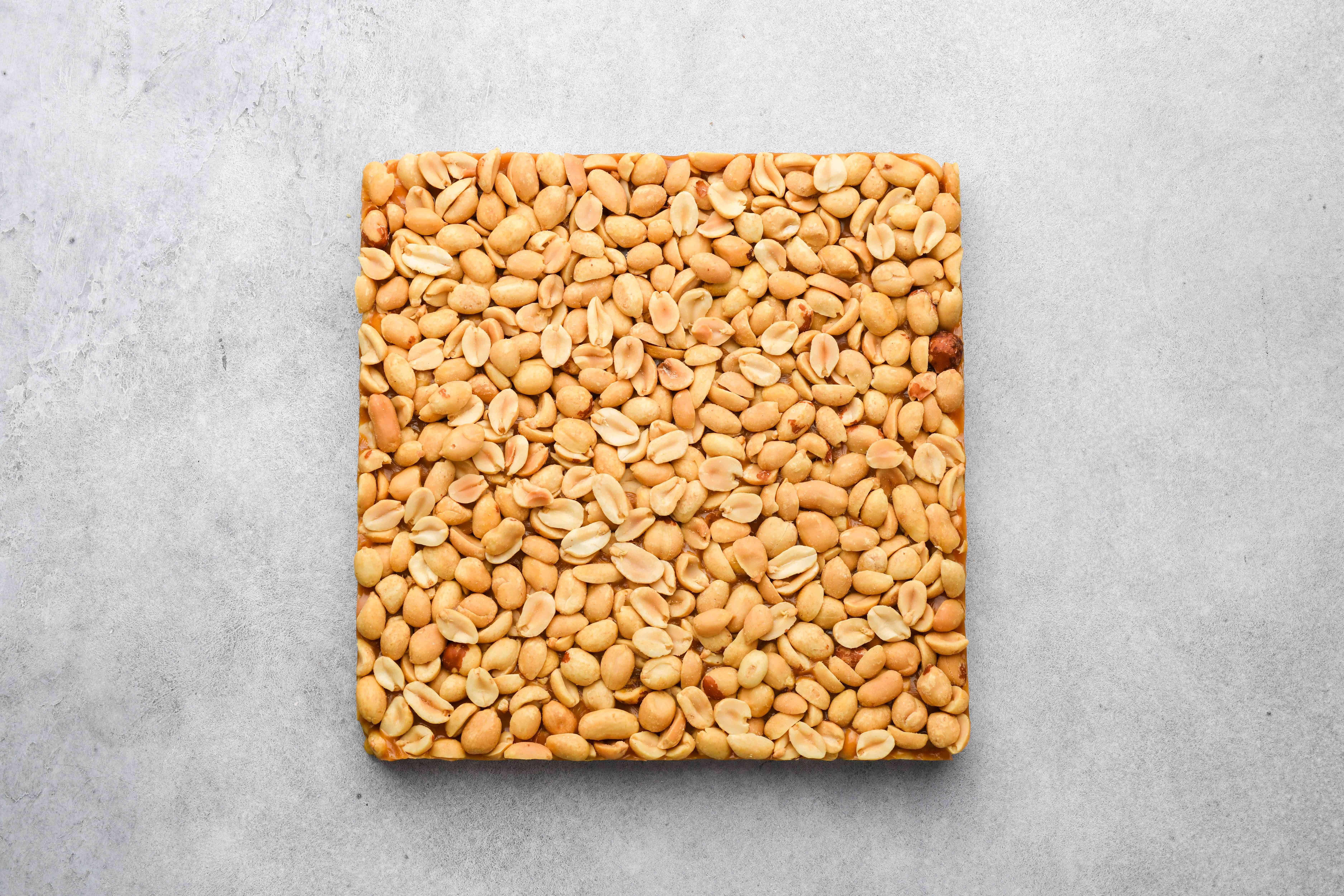 peanut and caramel square