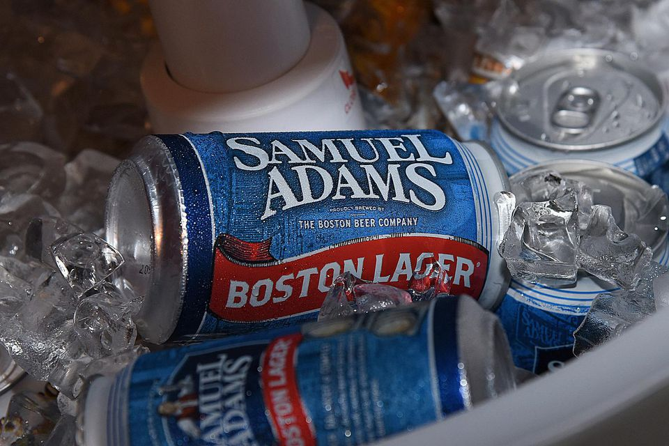Samuel Adams Boston Lager.