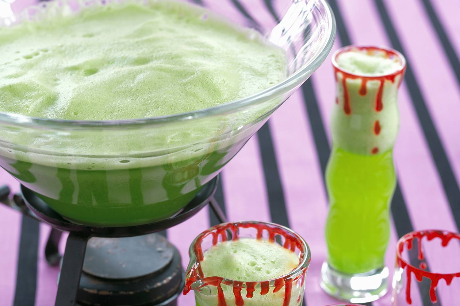 Sherbet Punch at a Halloween Party