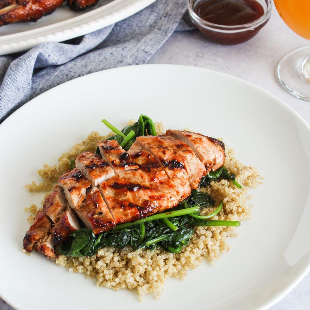 Serve barbecued pheasant