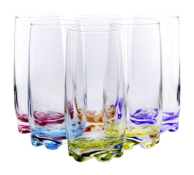 runner up best overall vibrant splash highball glasses - Best Glass