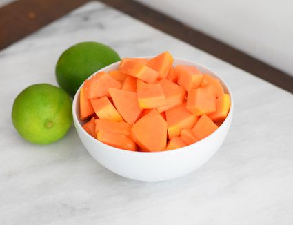 drizzle papaya with lime