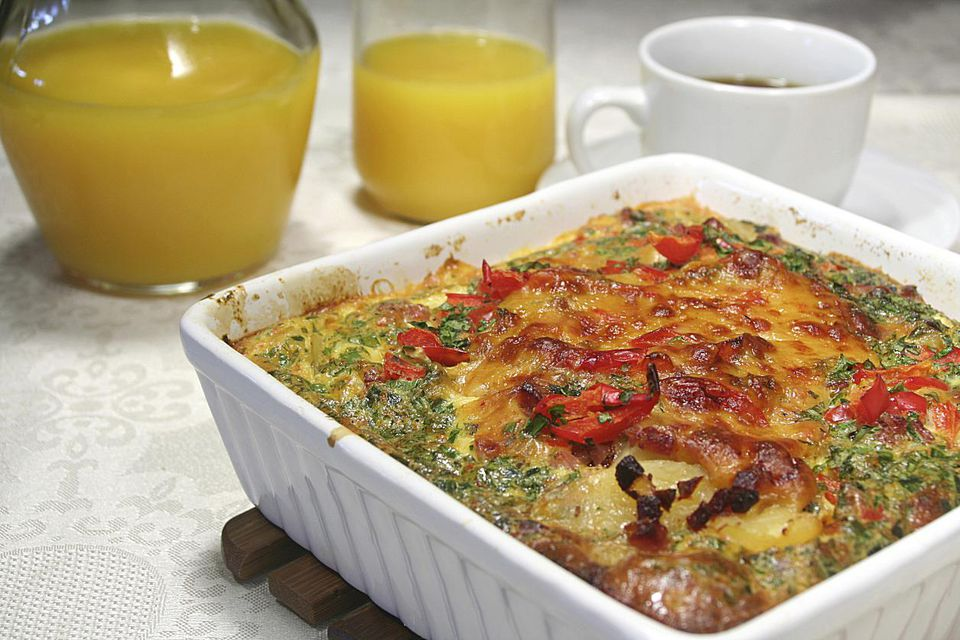 A potato and sausage breakfast casserole