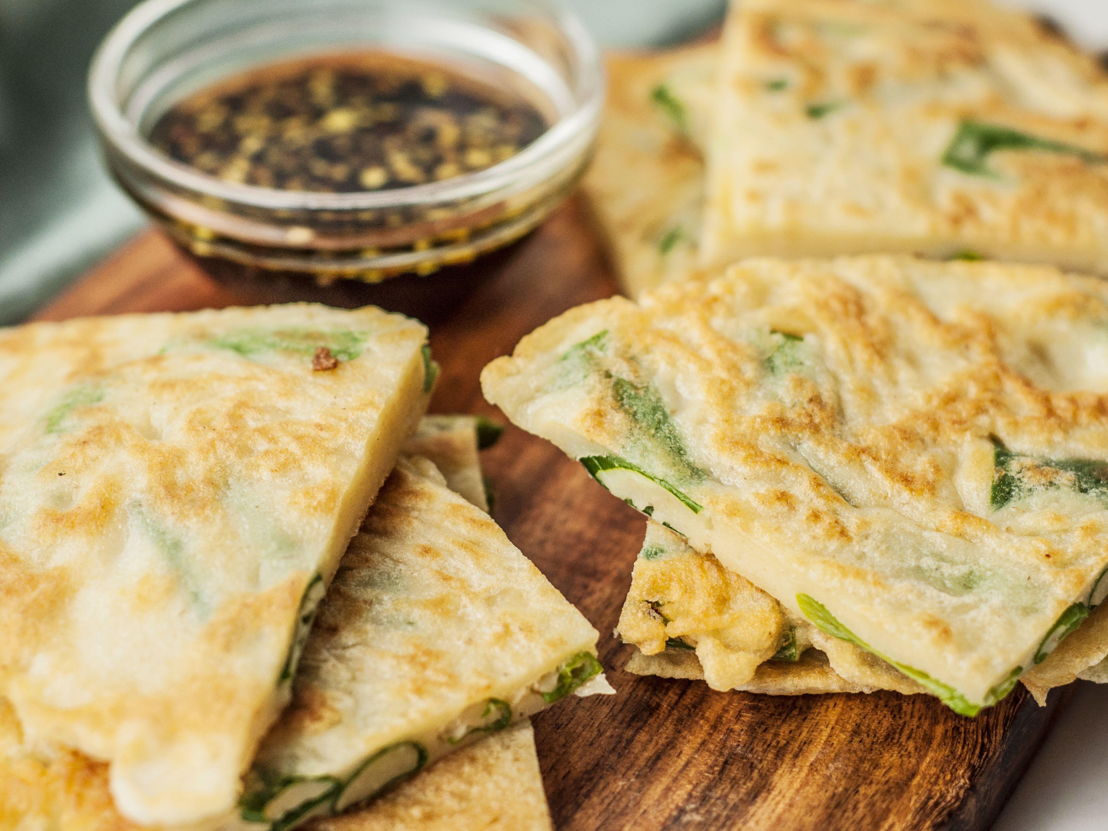 Korean Pancake With Scallions Recipe Pa Jun Recipe