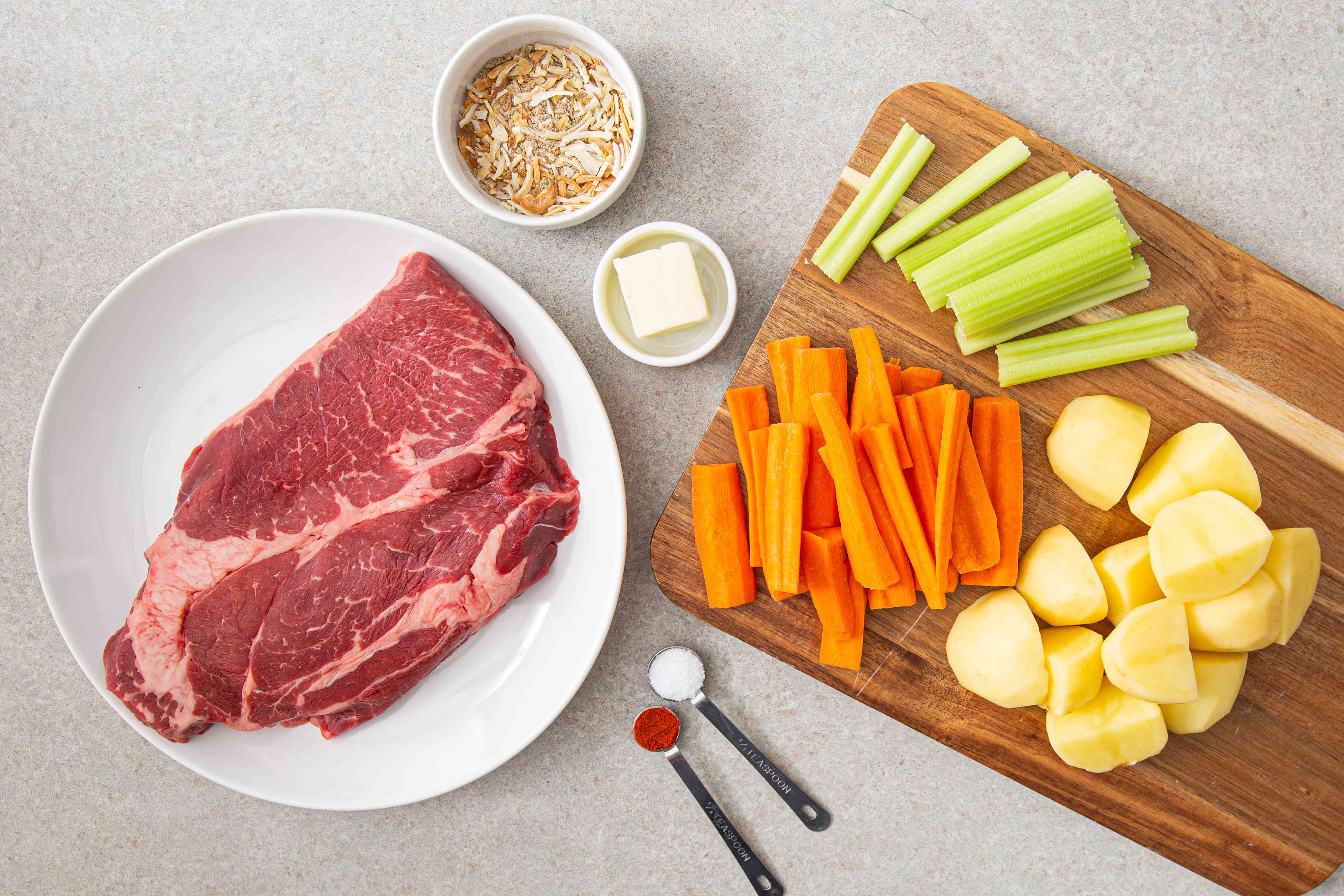 Ingredients for budget baked chuck steak