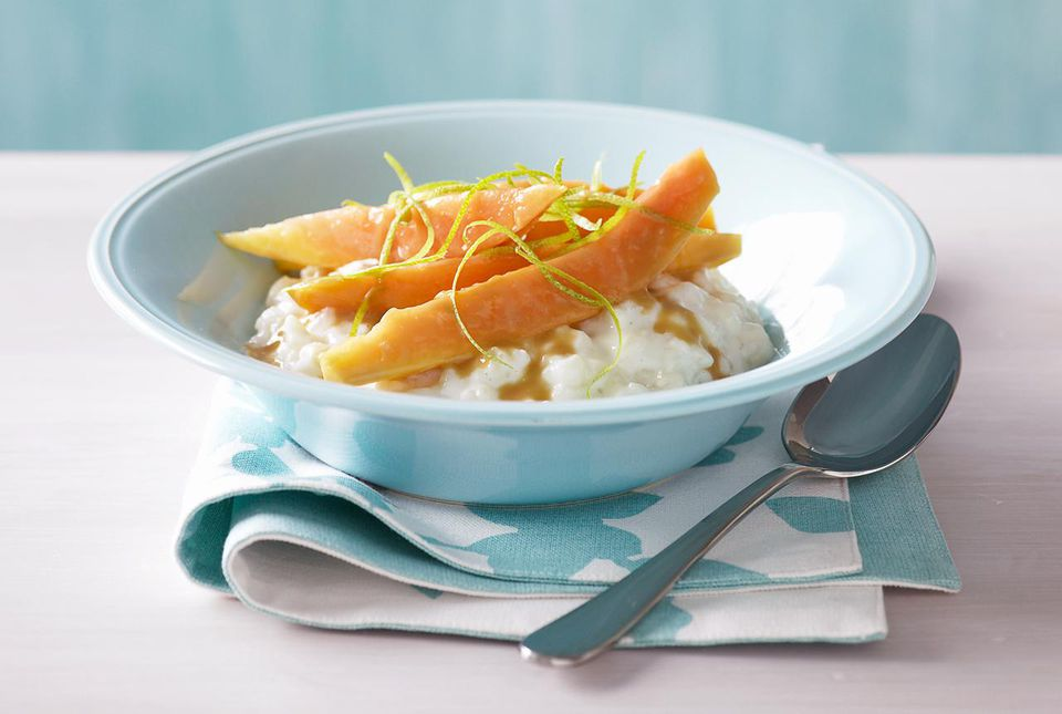 Pudín de arroz con frijoles de vainilla