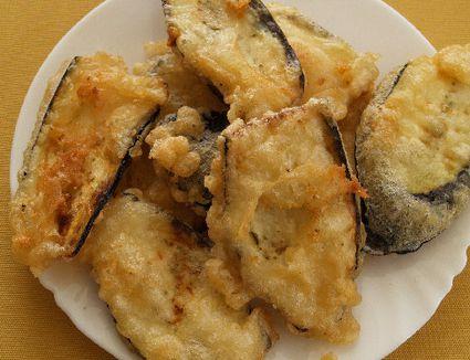 Batter-fried eggplant