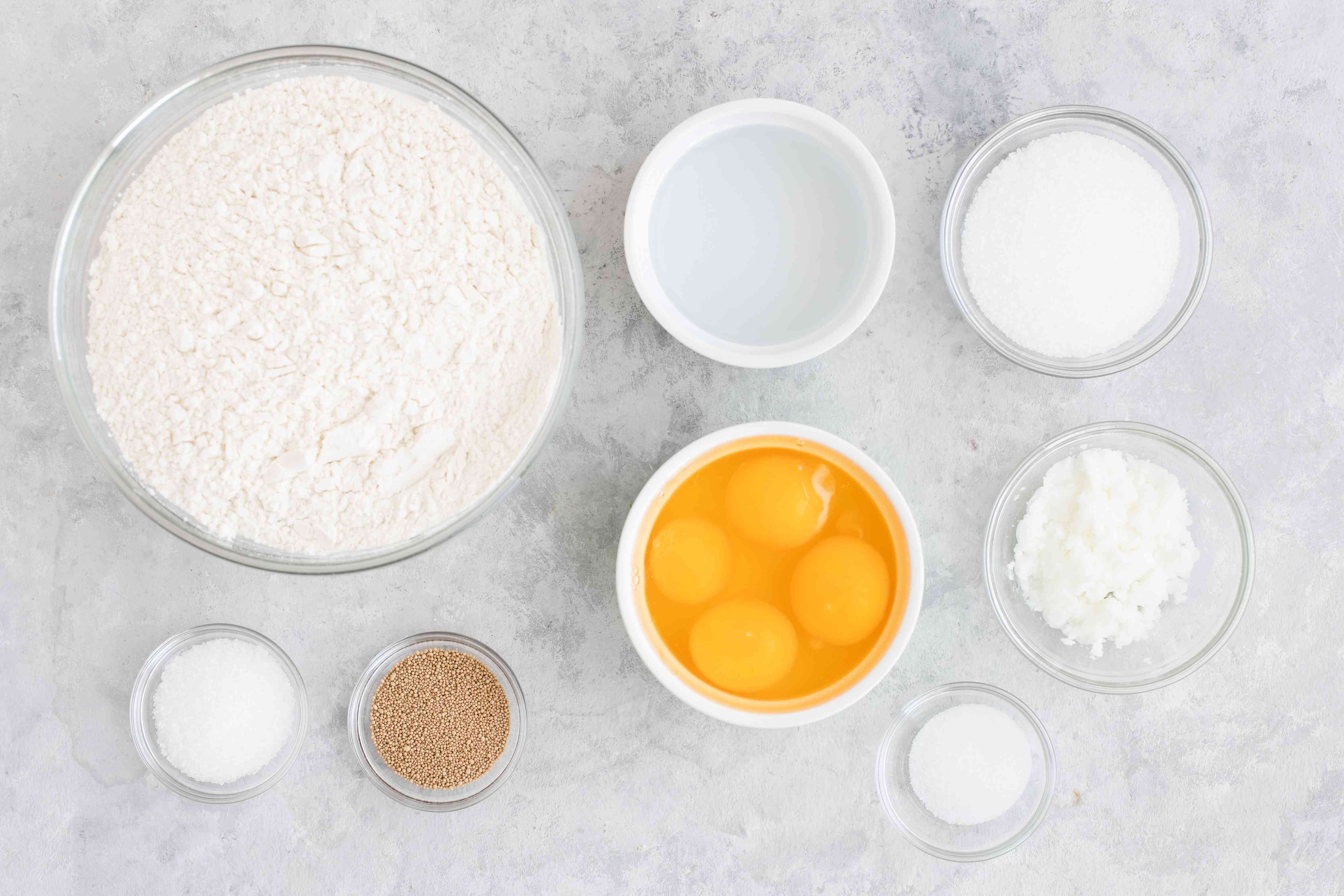 Ingredients for pan dulce