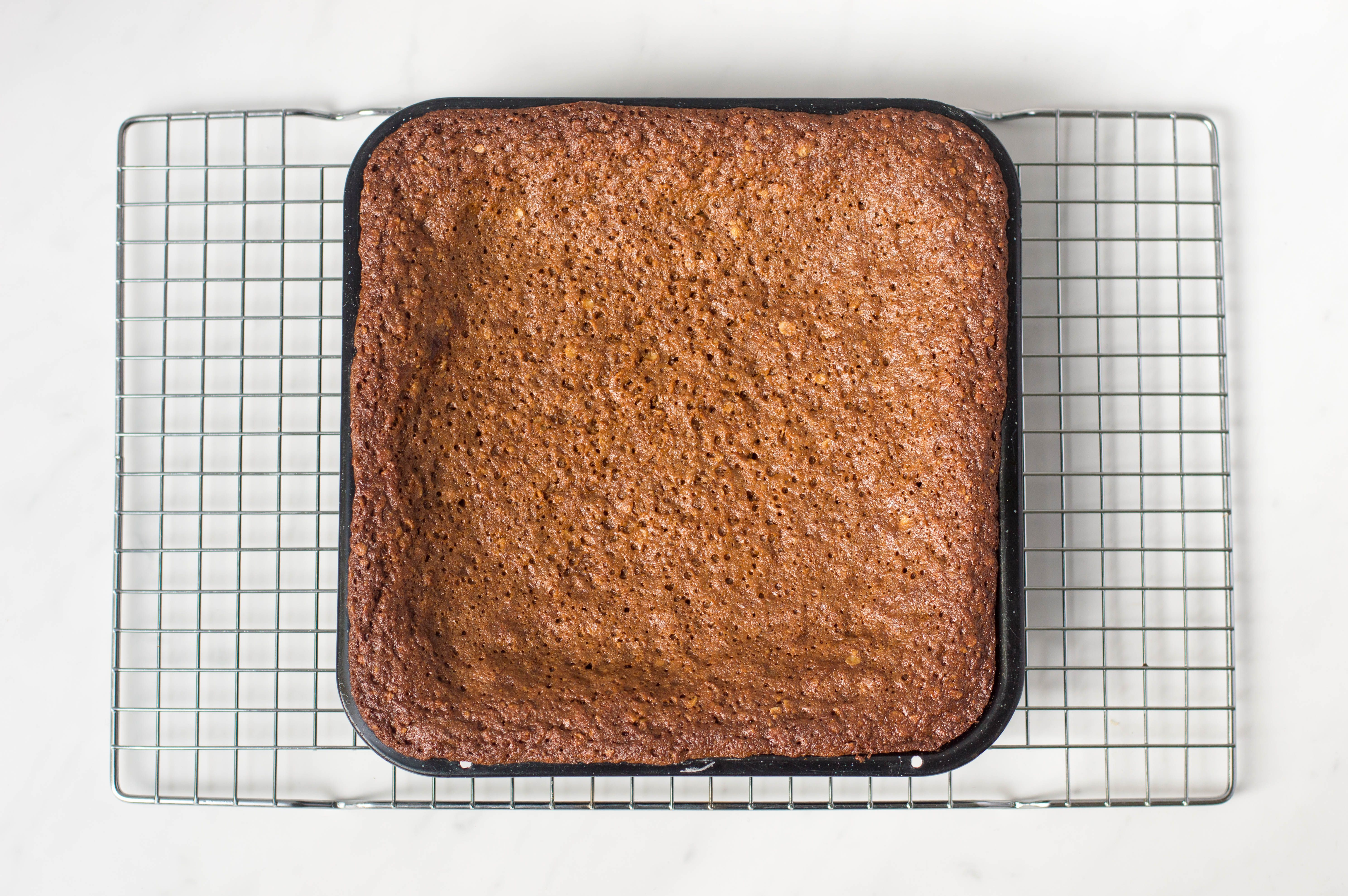 Traditional Yorkshire parkin in a baking pan