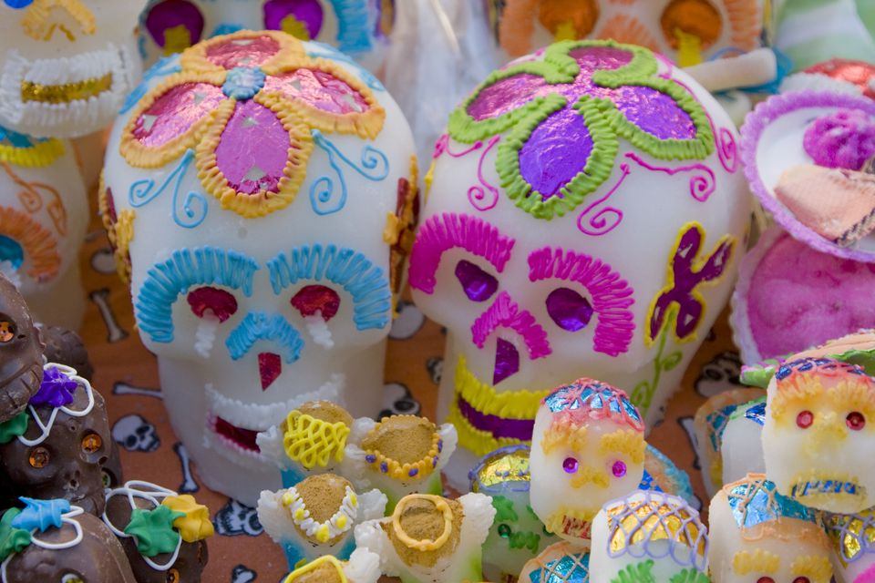 Day of Dead Celebrations, Candy Sugar Skulls from Oaxaca, Mexico