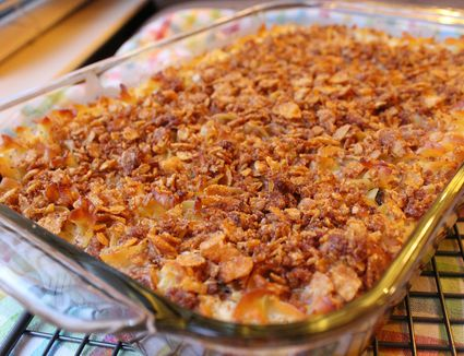 Cream Cheese Noodle Kugel with Corn Flake Topping