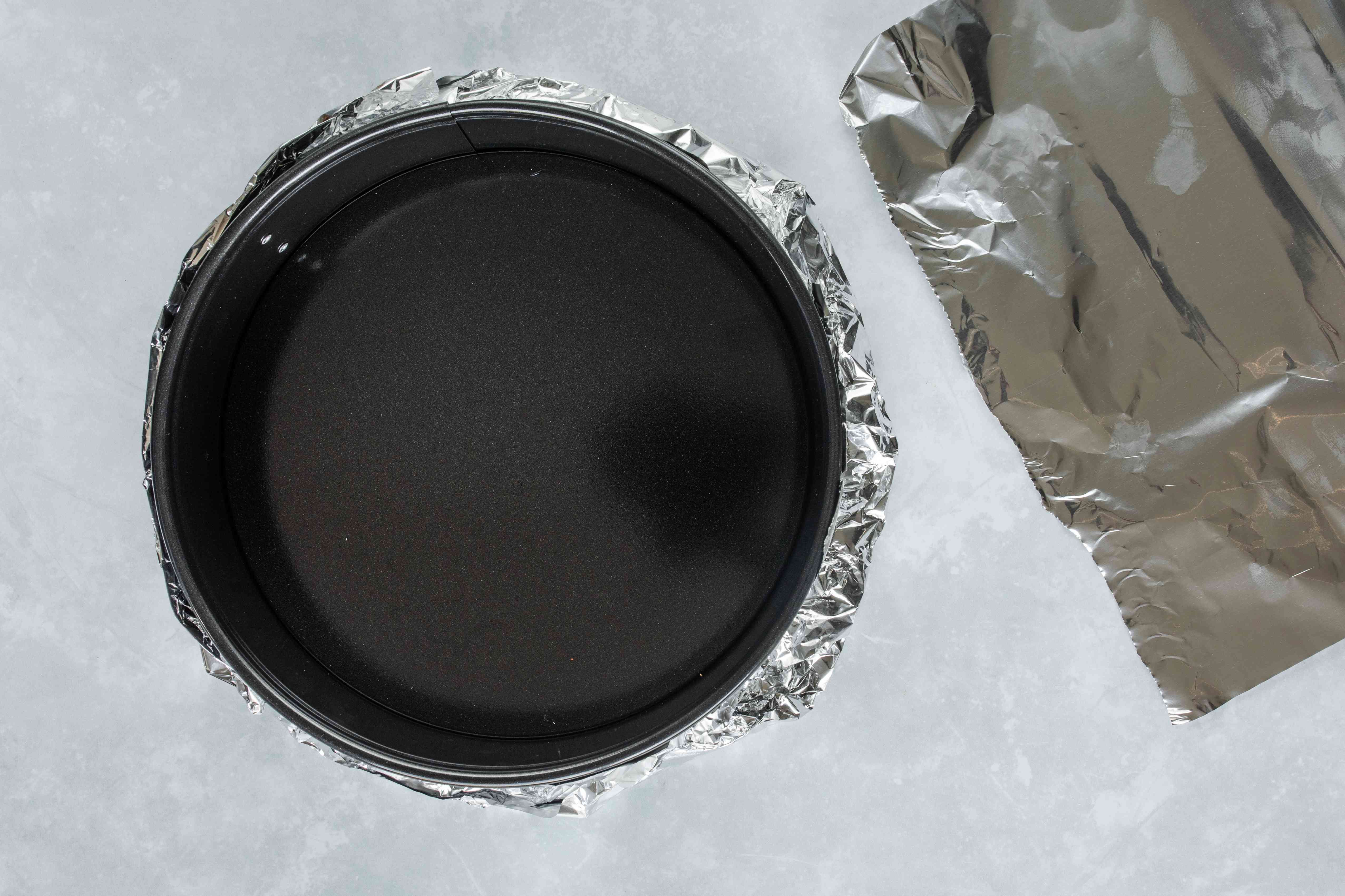 Wrap bottom of pan