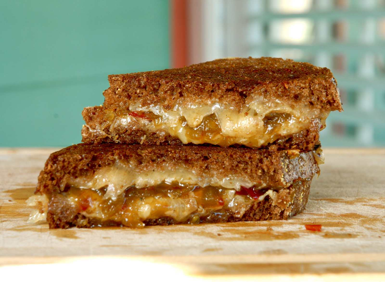 Green Tomato Jam + Jerk Cheese Grilled Cheese