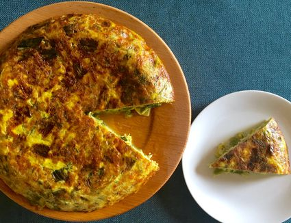 Spring Frittata With Leeks and Herbs
