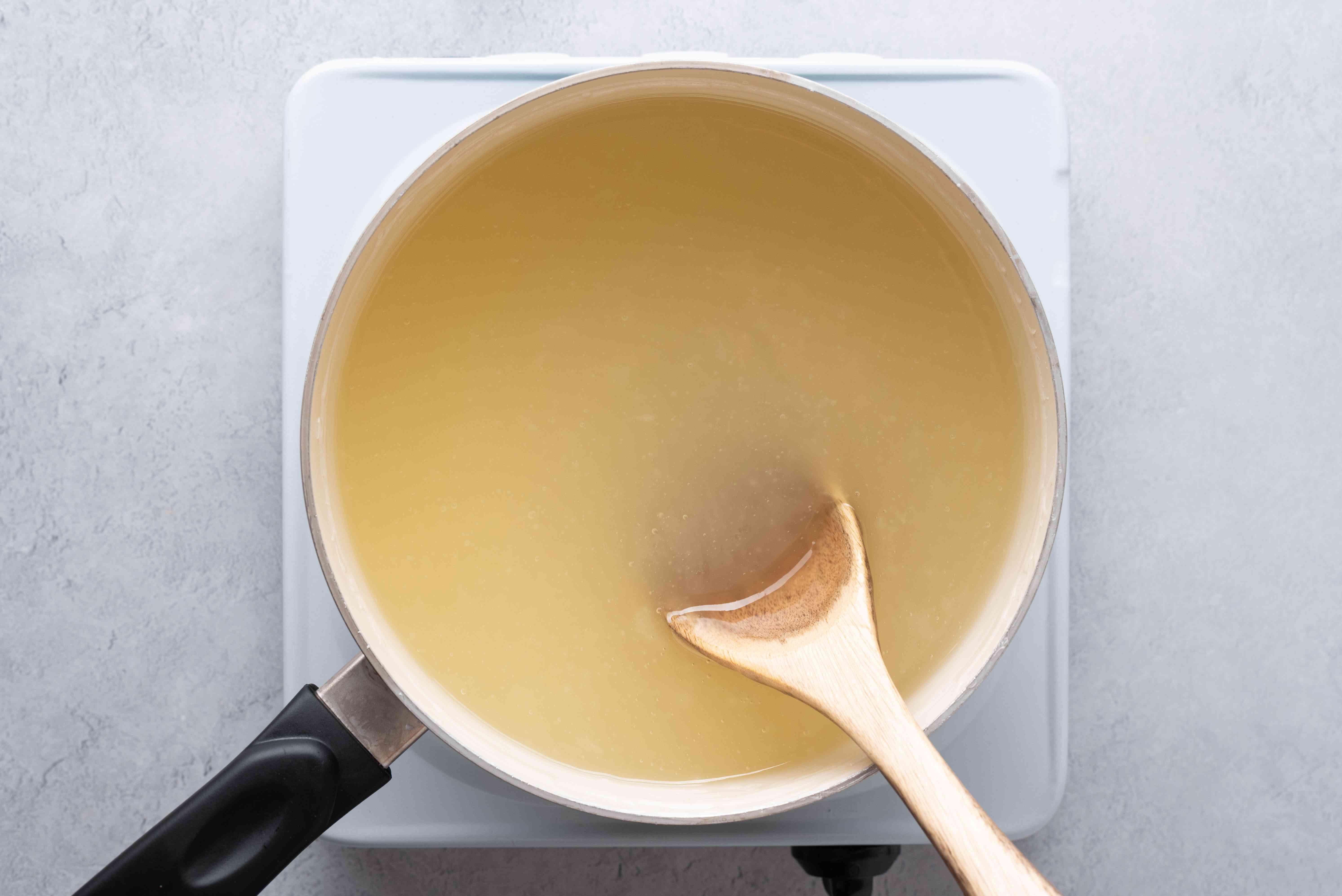 combine water, the granulated sugar, and lemon juice in a saucepan
