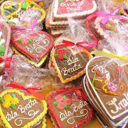 Polish Gingerbread Hearts