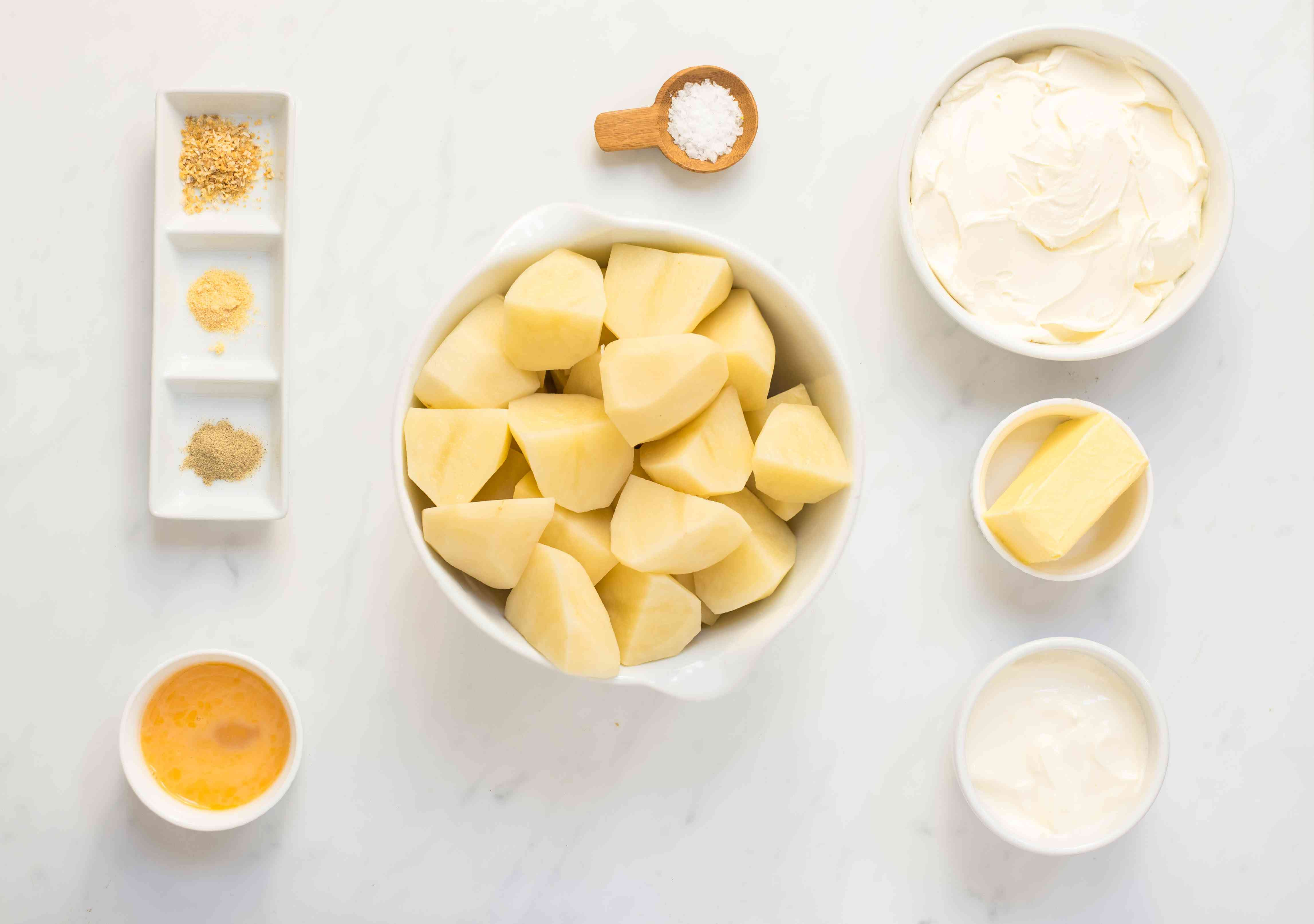 Ingredients for slow cooker mashed potatoes