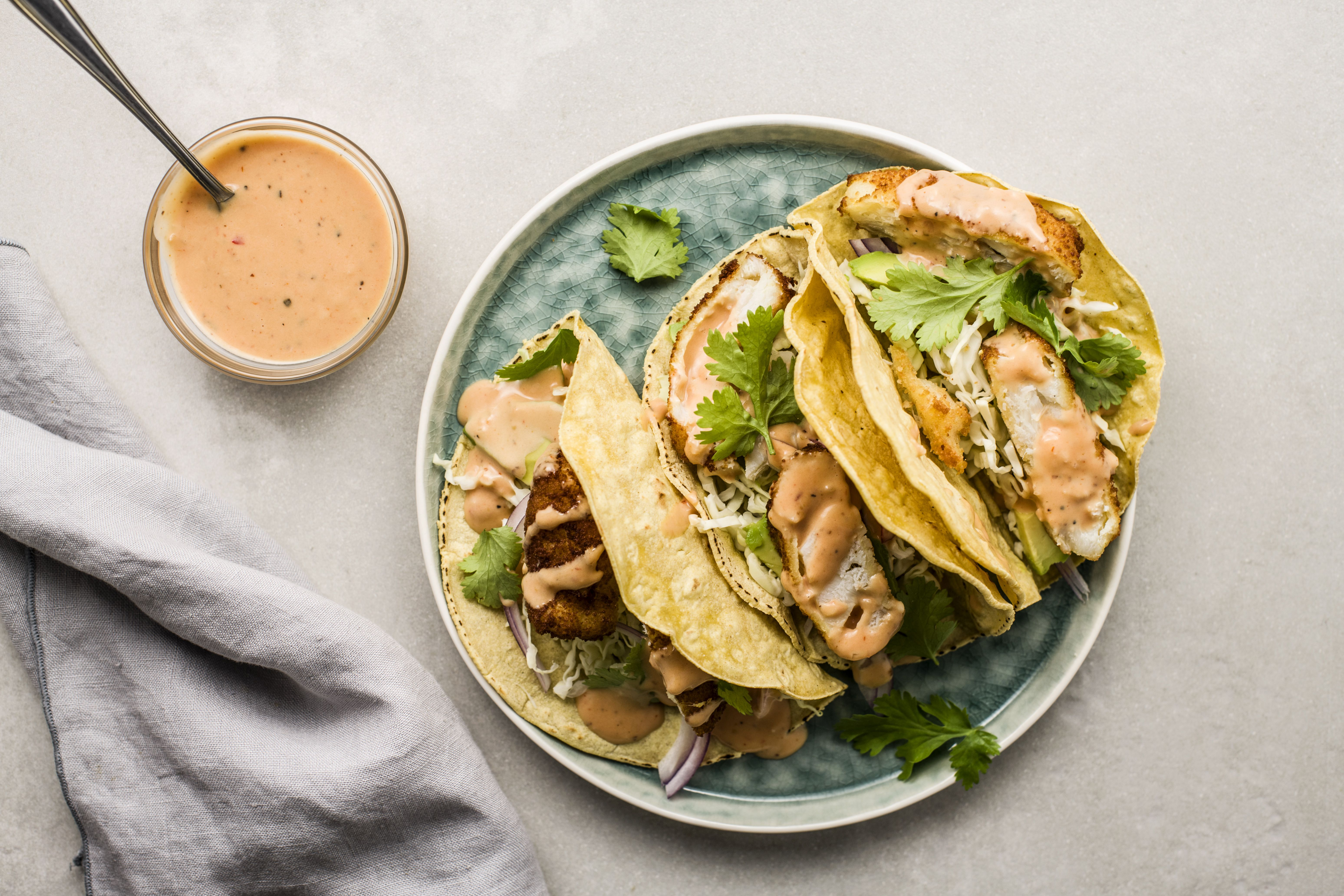 Southern comeback sauce served over tacos