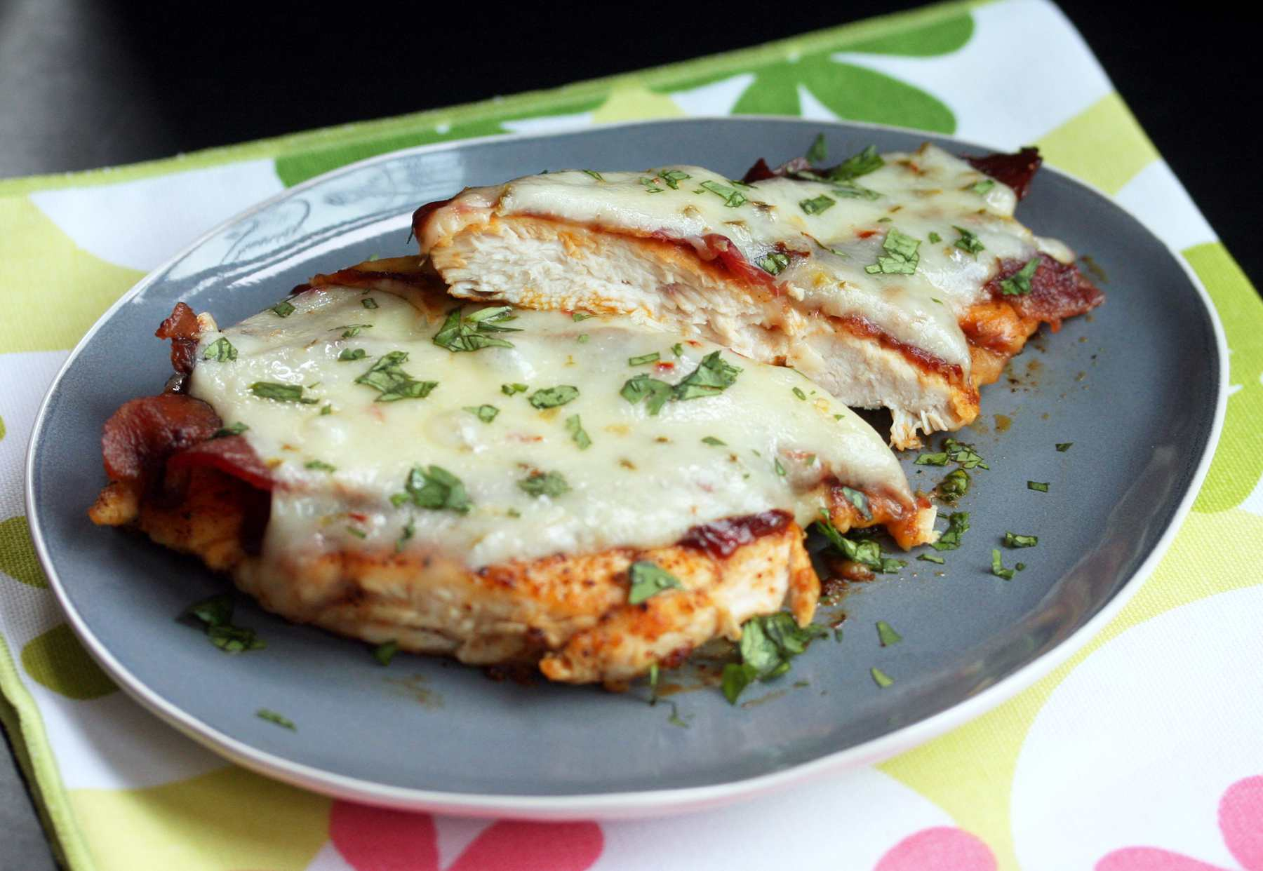 Chicken With Bacon and Pepper Jack Cheese