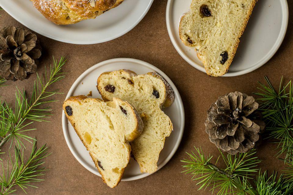 Pan de Navidad checo (Vanocka)