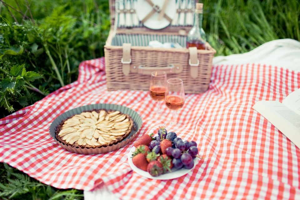 Dessert and wine picnic