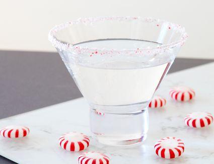 Peppermint Schnapps in a Martini Glass