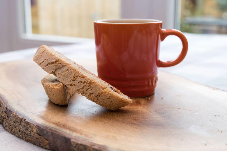Biscotti and coffee