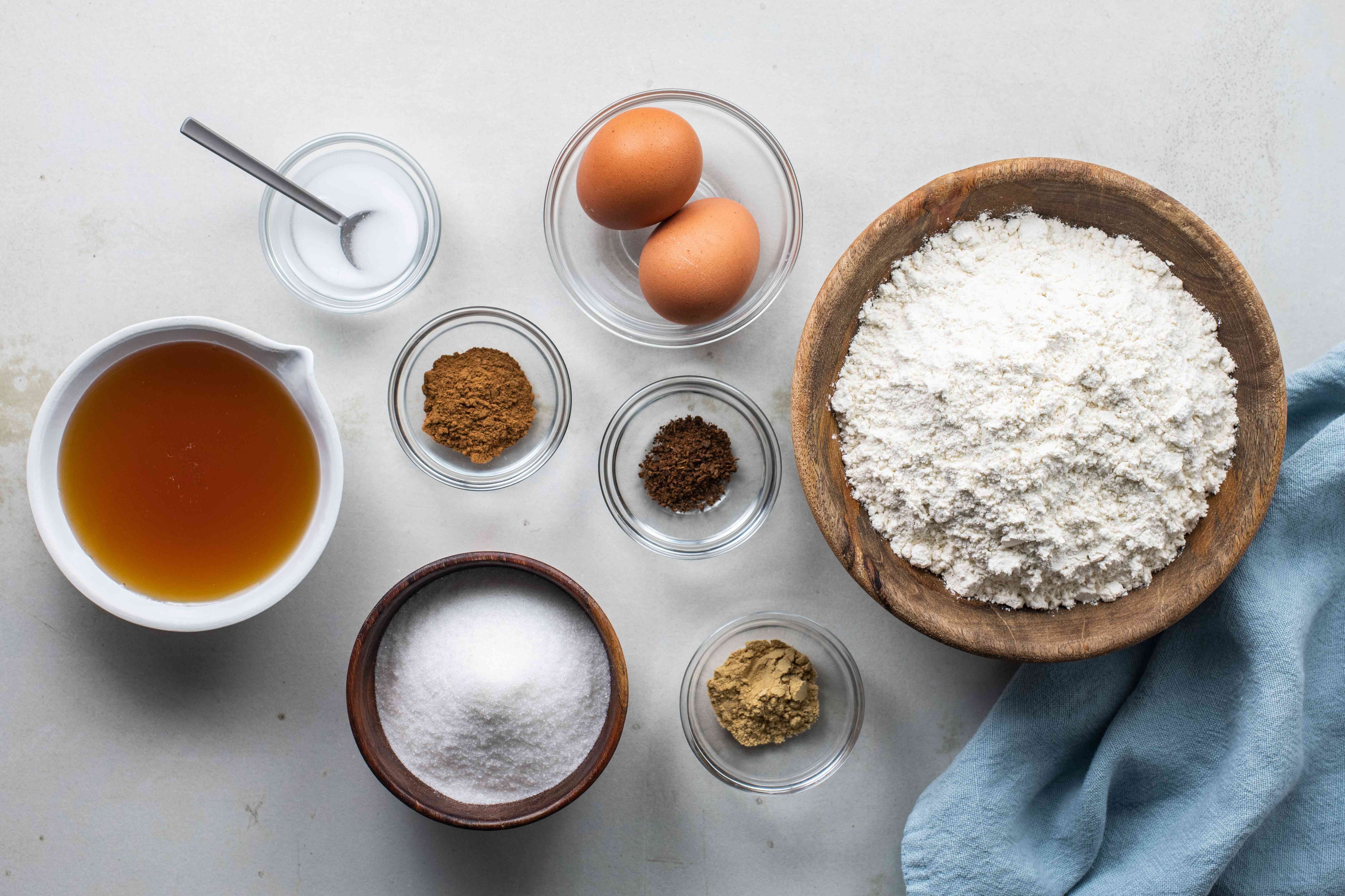 Ingredients for Polish gingerbread