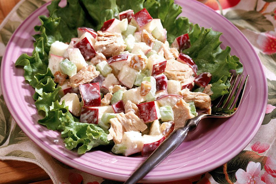 Curried Chicken Salad With Diced Apple