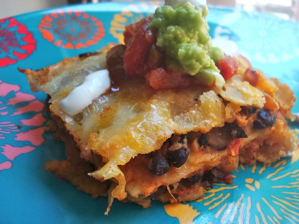 Black Bean Tortilla Casserole