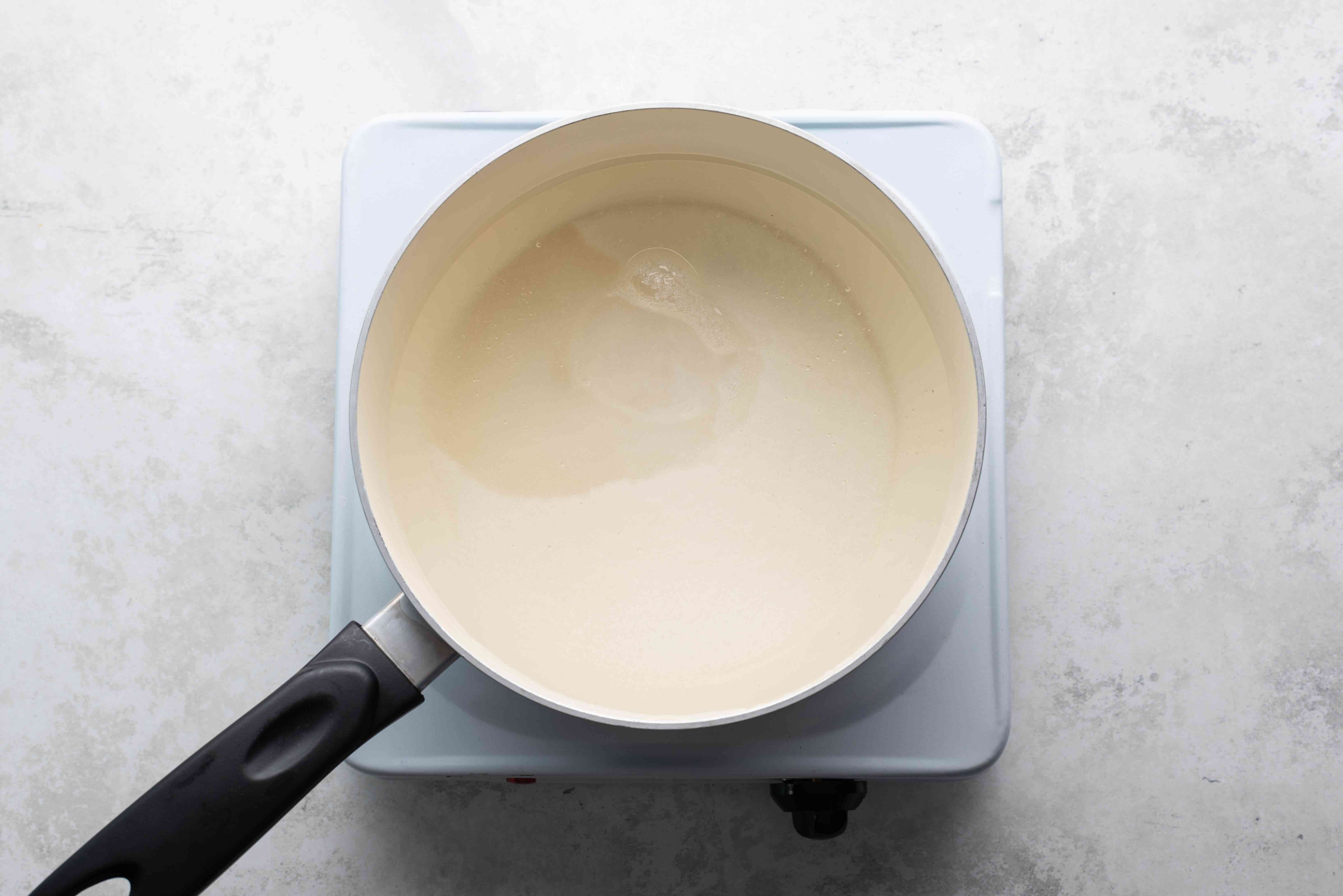 corn syrup, sugar and water in a large saucepan