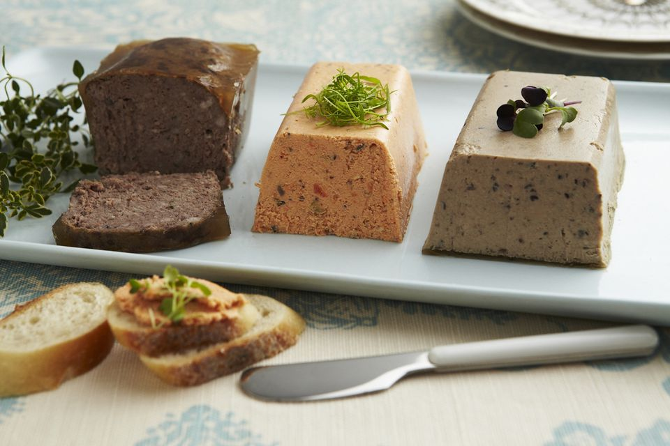 Trio of meat pâtés