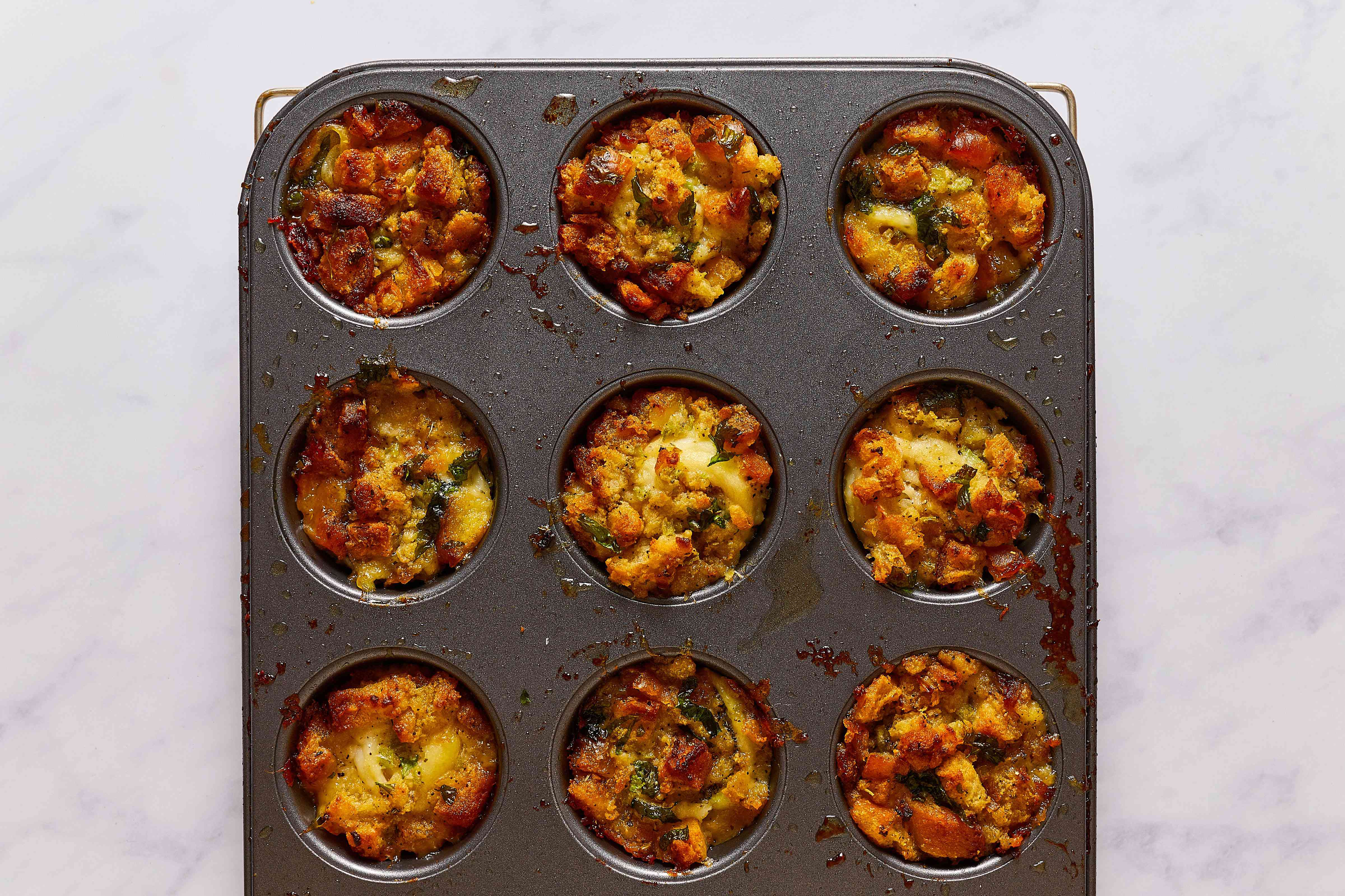 Baked Stuffed Fish Fillet in muffin tins