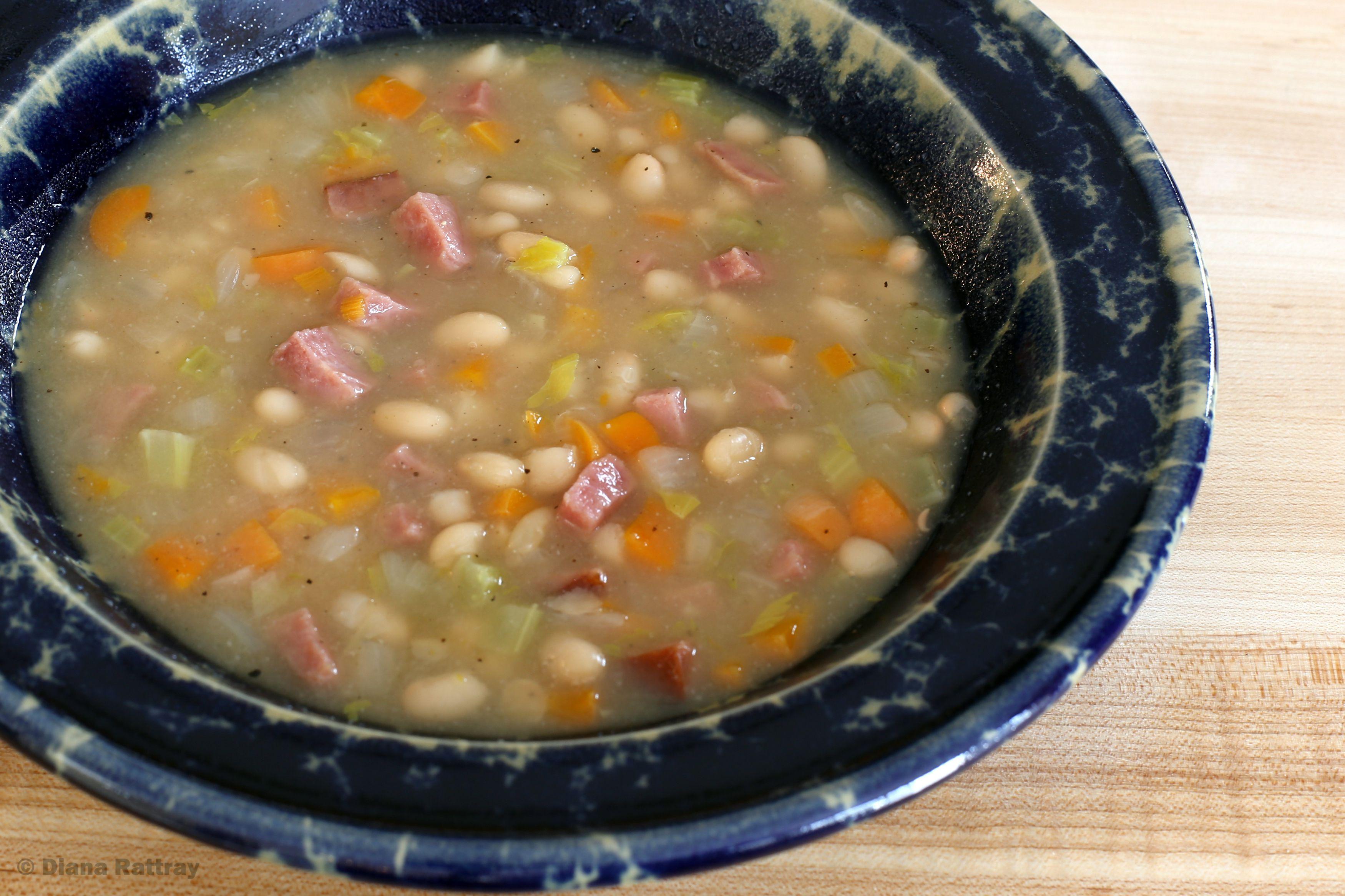 Crock Pot Bean Soup With Ham