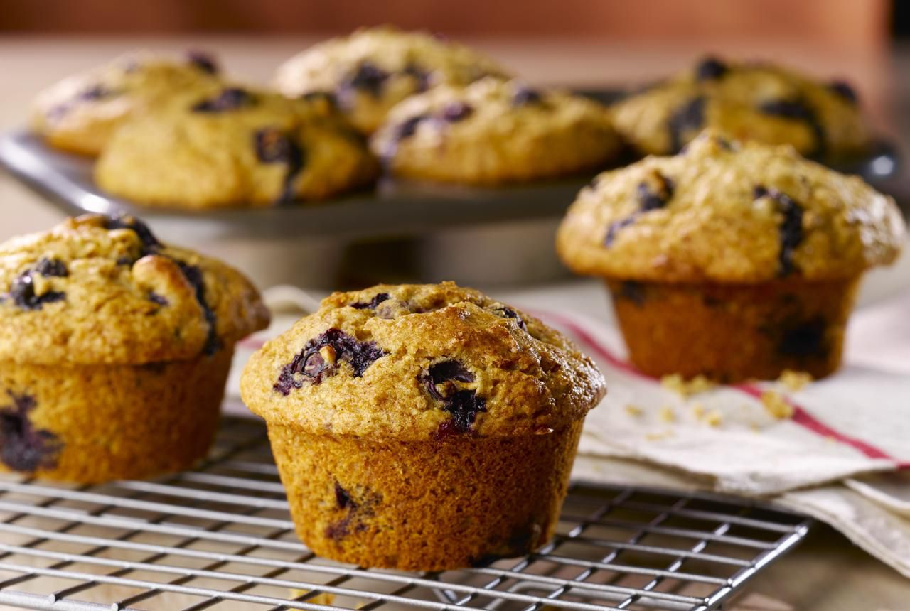 These Blueberry Muffins Cut the Fat Without Sacrificing Flavor
