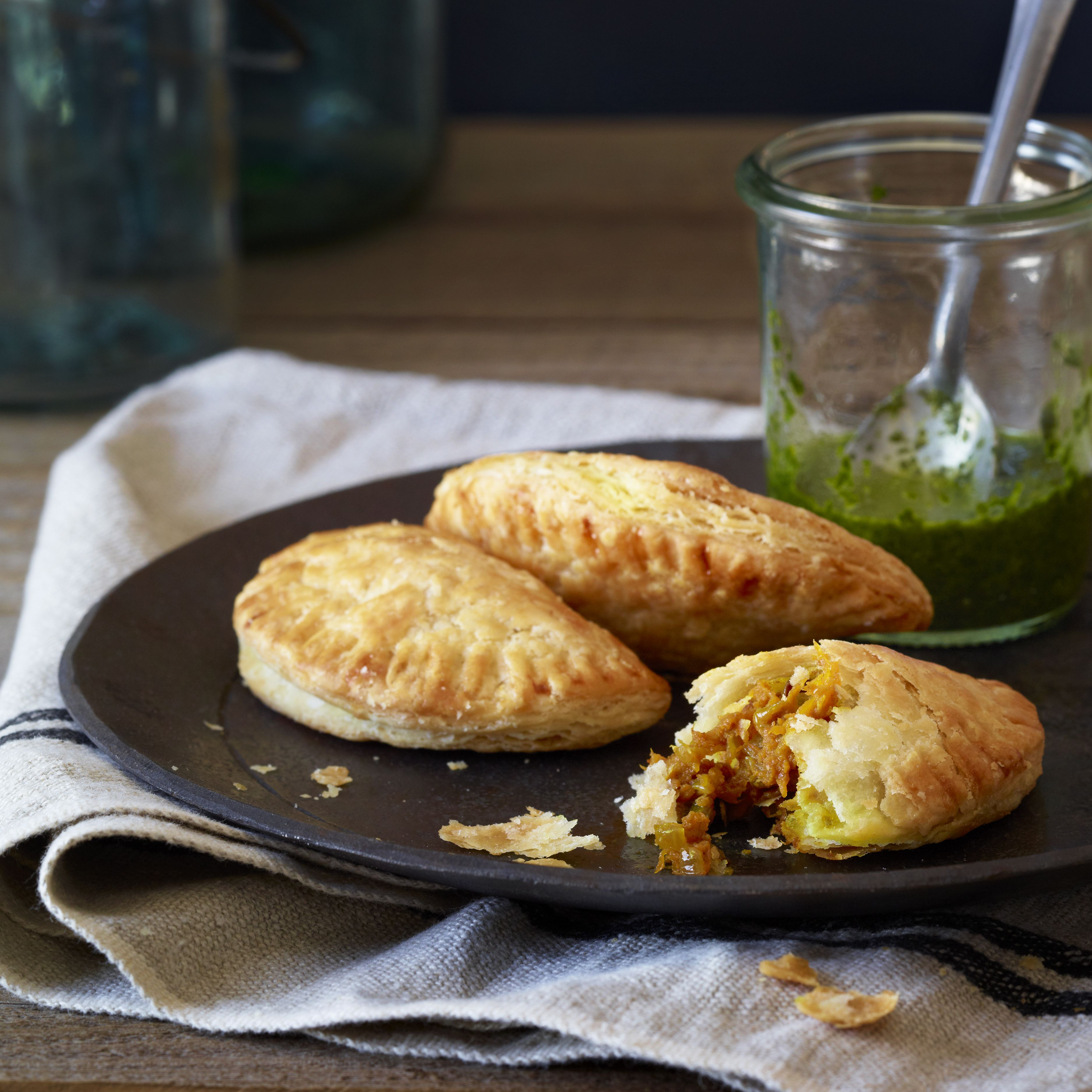 Traditional Empanadas made with Pumpkin and Curry