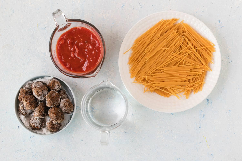 Crockpot Spaghetti and Meatballs ingredients