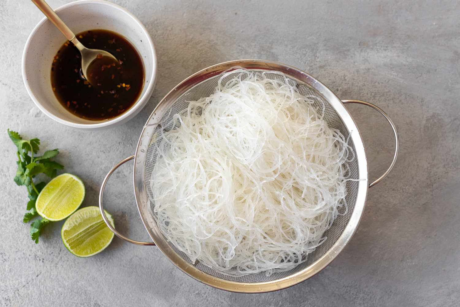 cooked glass noodles