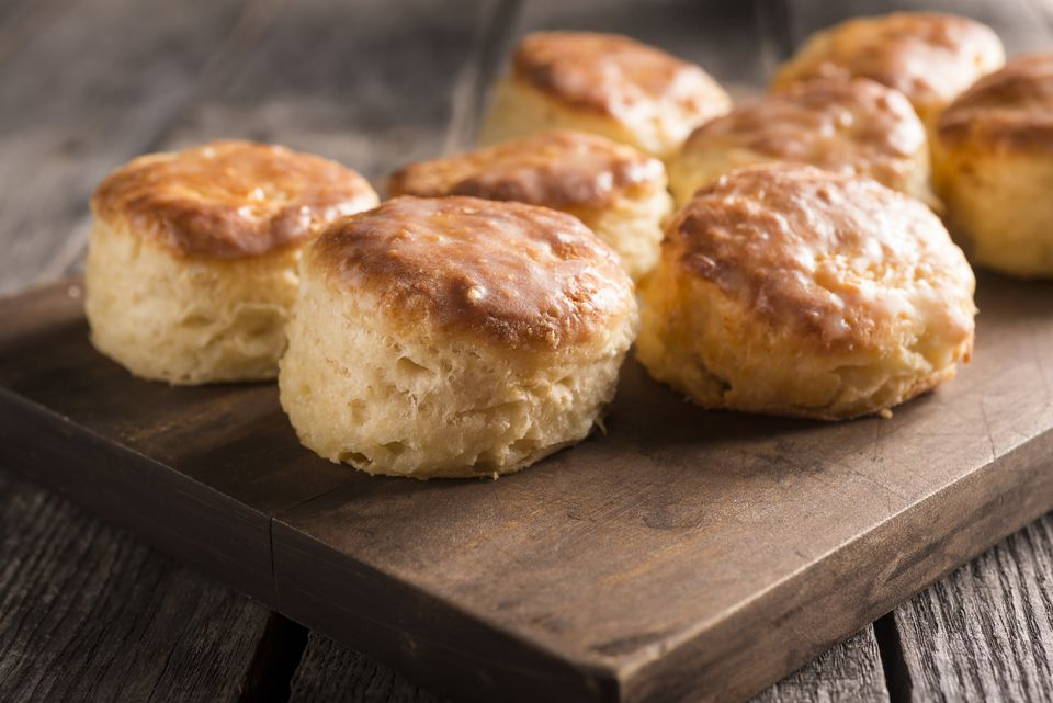 Biscuits on a platter