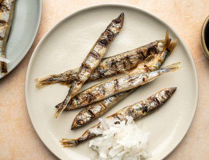 Grilled Shishamo (Smelt)