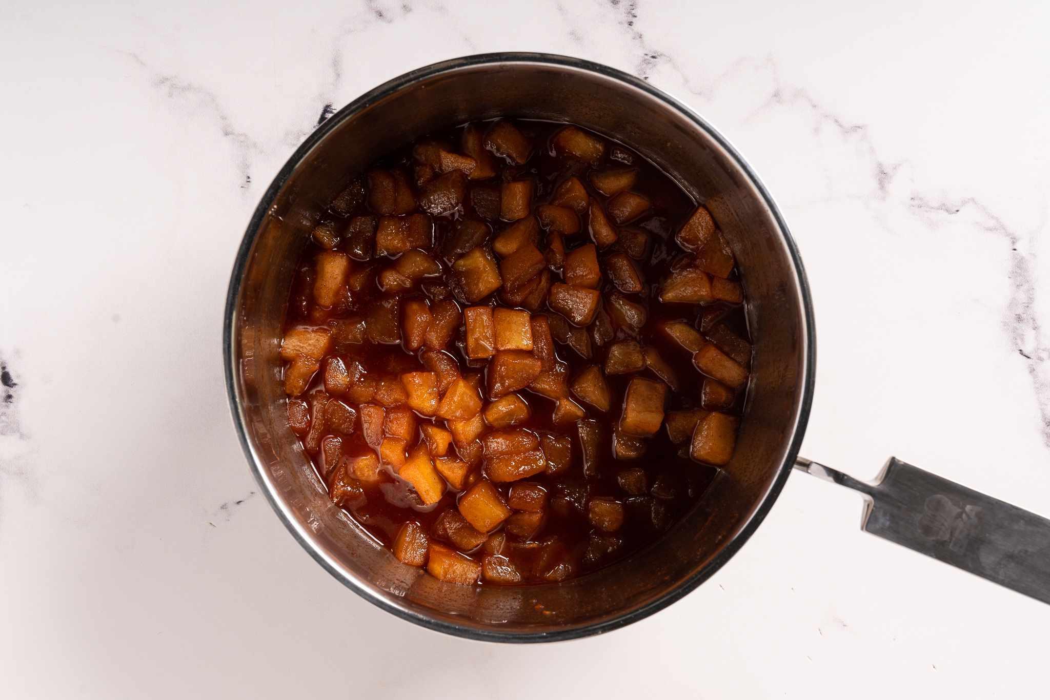 Copycat McDonald's Apple Pie filling in a pot