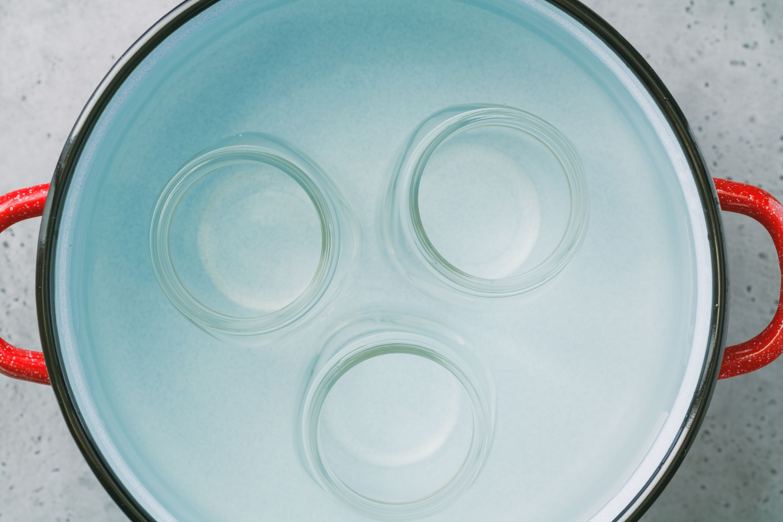 Jars in a water bath