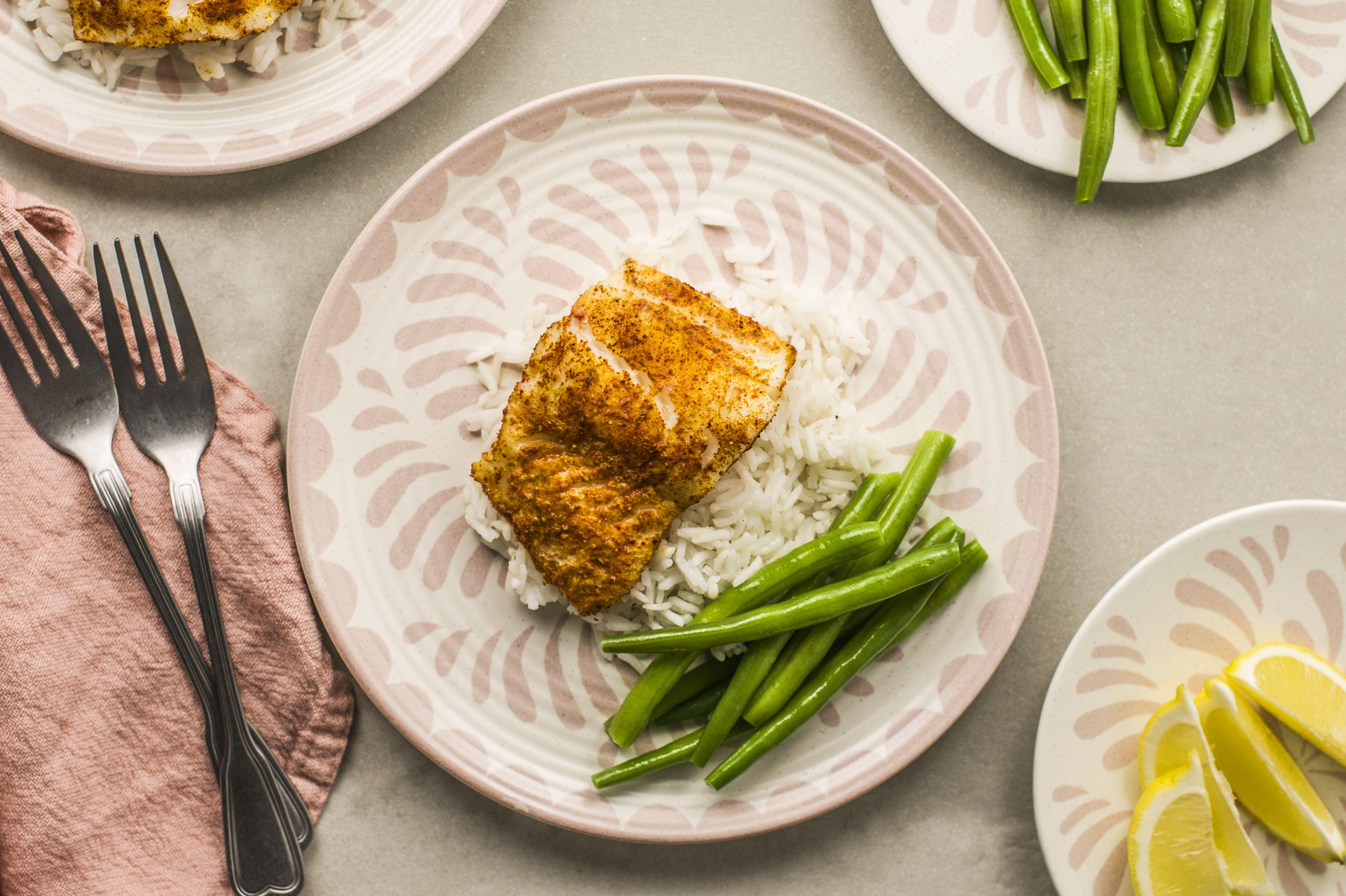 Low fat spice rubbed cod recipe
