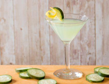 Melon Cucumber-tini Cocktail