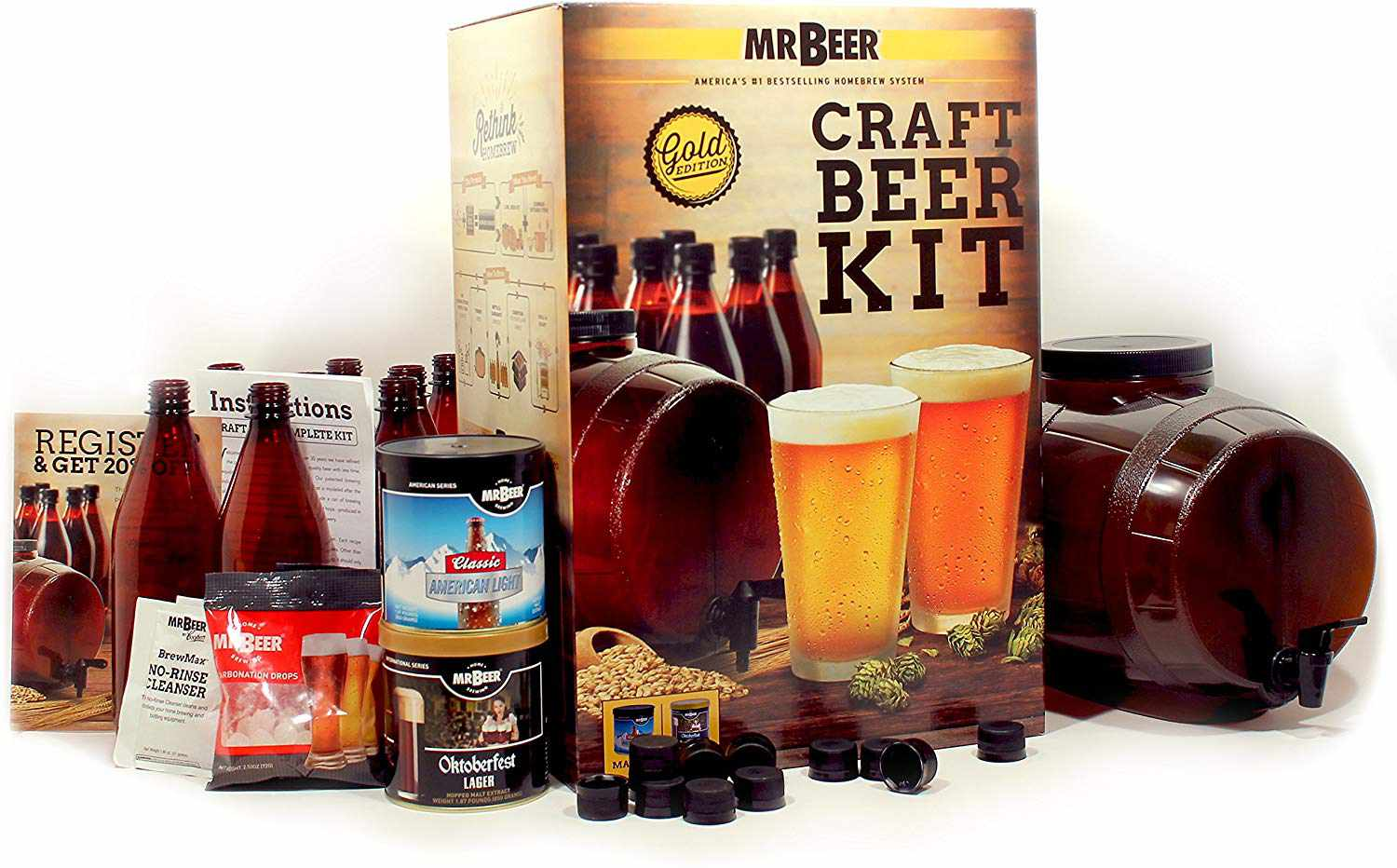 Mr. Beer Premium Gold Edition 2 Gallon Craft Beer Making Kit
